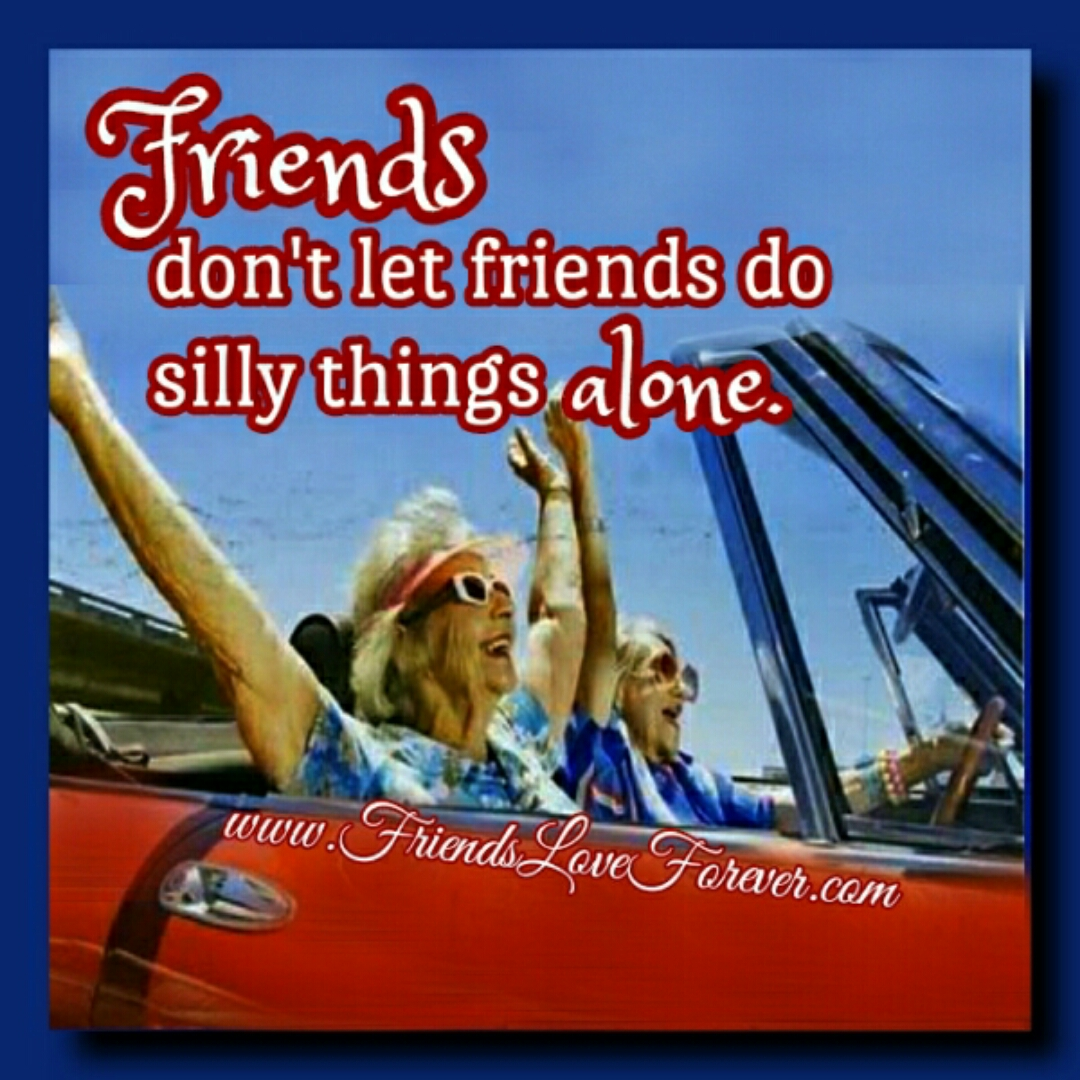 Friends don't let friends do silly things alone