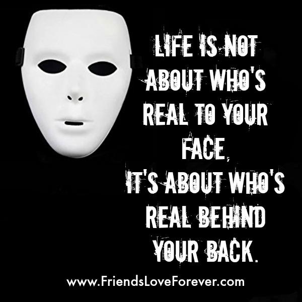 Life isn't about who's real to your face