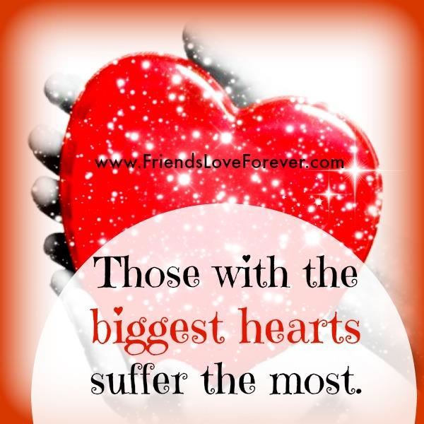 People having the biggest hearts
