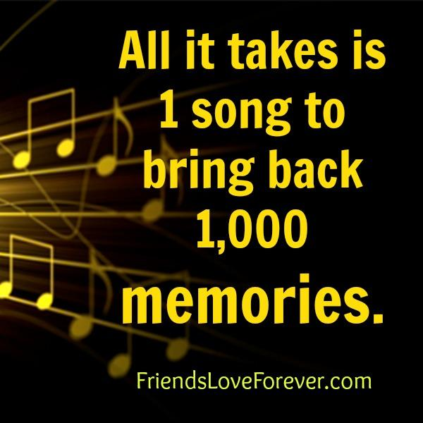 All it takes 1 song to bring back 1000 memories