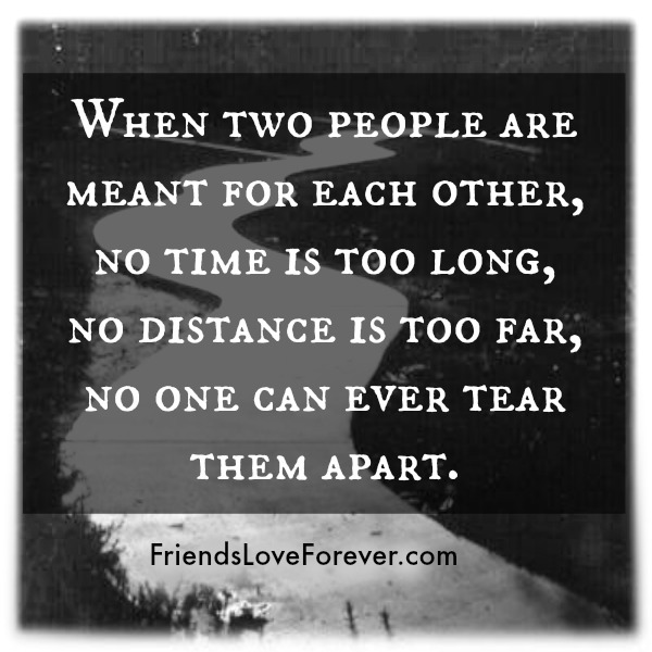 When two people are meant for each other?